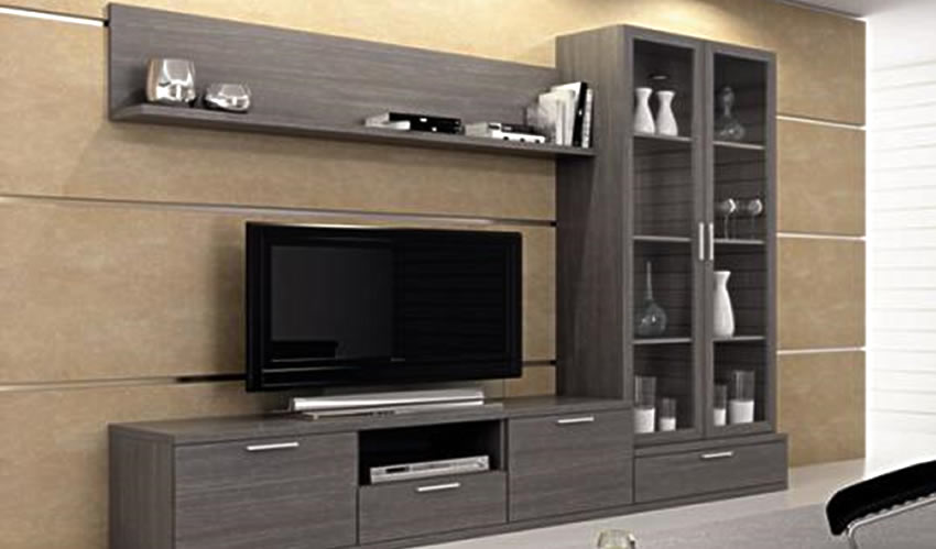 Muebles para televisor en melamina for Muebles melamina